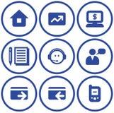 Iconos del comercio electrónico del vector fijados Imagen de archivo libre de regalías