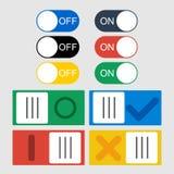 Iconos del conmutador del vector Imagen de archivo