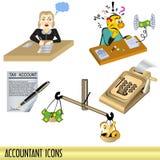 Iconos del contable libre illustration