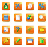 Iconos del contable de WWW stock de ilustración
