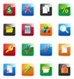 Iconos del contable de WWW ilustración del vector