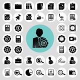 Iconos del contable fijados stock de ilustración