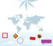 Iconos del contacto de la correspondencia de la tierra libre illustration