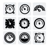 Iconos del contador ilustración del vector