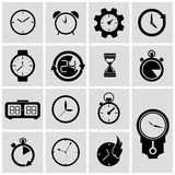 Iconos del contador de tiempo del vector fijados libre illustration