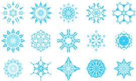 Iconos del copo de nieve Foto de archivo libre de regalías