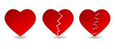 Iconos del corazón Imagen de archivo libre de regalías