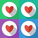 Iconos del corazón Diseño plano ilustración del vector