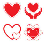 Iconos del corazón del vector Imágenes de archivo libres de regalías