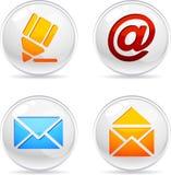Iconos del correo. stock de ilustración