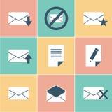 Iconos del correo Imagen de archivo libre de regalías