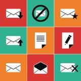 Iconos del correo Imagen de archivo