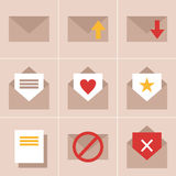 Iconos del correo Fotos de archivo libres de regalías