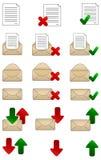 iconos del correo del vector Fotografía de archivo