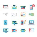 Iconos del correo electrónico Imagenes de archivo