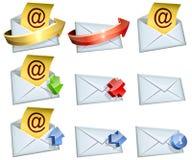 Iconos del correo electrónico Fotos de archivo libres de regalías