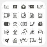 Iconos del correo fijados Imagen de archivo