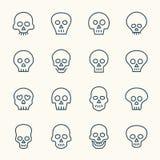 Iconos del cráneo Imagen de archivo libre de regalías