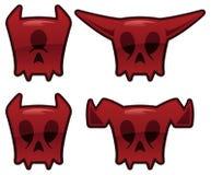 Iconos del cráneo del demonio Foto de archivo