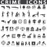 Iconos del crimen libre illustration