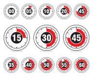 Iconos del cronómetro Fotografía de archivo