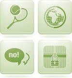 Iconos del cuadrado del Olivine 2.os fijados Imagen de archivo libre de regalías
