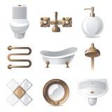 Iconos del cuarto de baño Imágenes de archivo libres de regalías