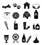 Iconos del cuidado del perro Fotografía de archivo