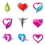 Iconos del cuidado médico Fotografía de archivo libre de regalías