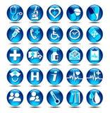 Iconos del cuidado médico Foto de archivo