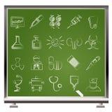 Iconos del cuidado médico, de la medicina y del hospital Imágenes de archivo libres de regalías