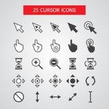 Iconos del cursor del vector fijados Imagen de archivo