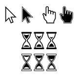 Iconos del cursor. Sistema del indicador de ratón Fotos de archivo libres de regalías