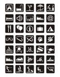 Iconos del día de fiesta stock de ilustración