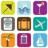 Iconos del día de fiesta Imágenes de archivo libres de regalías