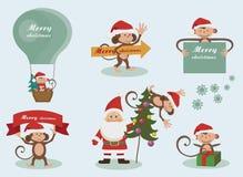 Iconos del día de fiesta de la Navidad y del Año Nuevo Fotos de archivo
