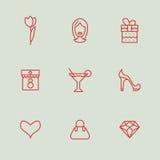 Iconos del día de las mujeres Imagen de archivo