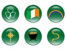 Iconos del día de Patricks del santo stock de ilustración