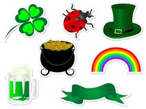 Iconos del día de St.Patrick Foto de archivo libre de regalías