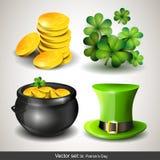 Iconos del día de St Patrick Imágenes de archivo libres de regalías