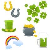 Iconos del día de St.Patricks Imágenes de archivo libres de regalías