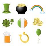 Iconos del día del St. Patrick ilustración del vector