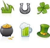 Iconos del día del St Patrick Fotos de archivo libres de regalías