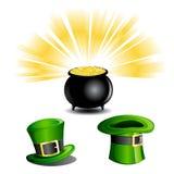 Iconos del día del St Patrick Imagenes de archivo