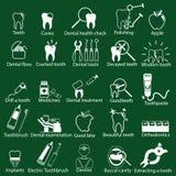 Iconos del dentista Fotos de archivo libres de regalías