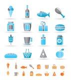Iconos del departamento, del alimento y de la bebida Foto de archivo