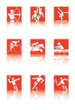 Iconos del deporte Foto de archivo