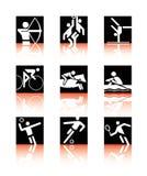 Iconos del deporte Foto de archivo libre de regalías