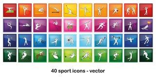 Iconos del deporte Imágenes de archivo libres de regalías