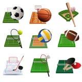 Iconos del deporte Imagen de archivo libre de regalías